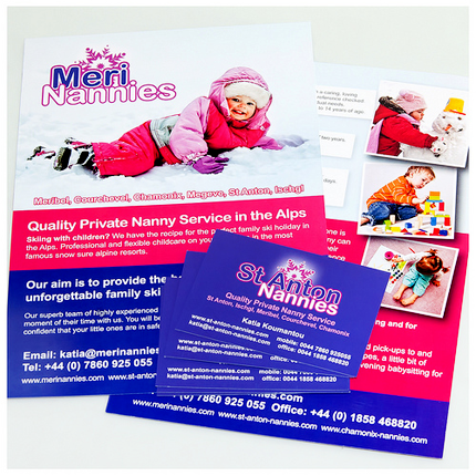 Nanny service leaflet design nanny service flyers design nanny project leaflet and business card design reheart Choice Image